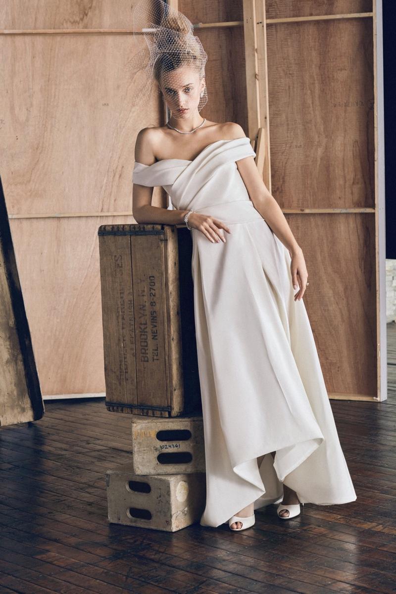 Moda Operandi X J Mendel Off The Shoulder Gown