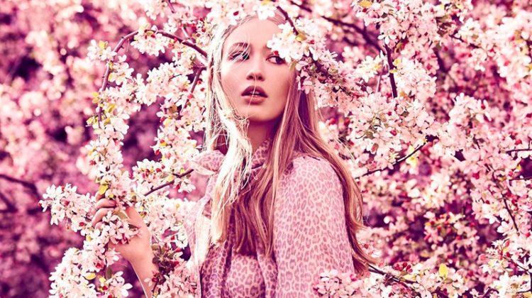 Natalia Siam Looks Gorgeous in Florals for Grazia Australia
