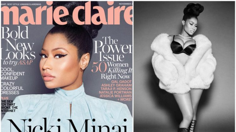 Nicki Minaj Stars in Marie Claire, Talks Competing with Male Rappers