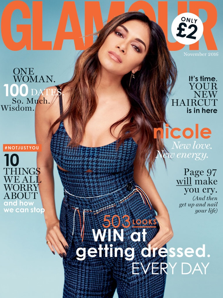 Nicole Scherzinger on Glamour UK November 2016 Cover