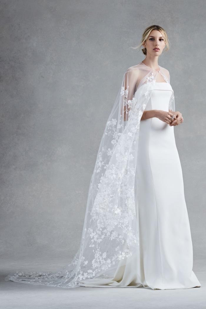 Oscar de la renta bridal 2017 fall winter dresses for Wedding dress with a cape