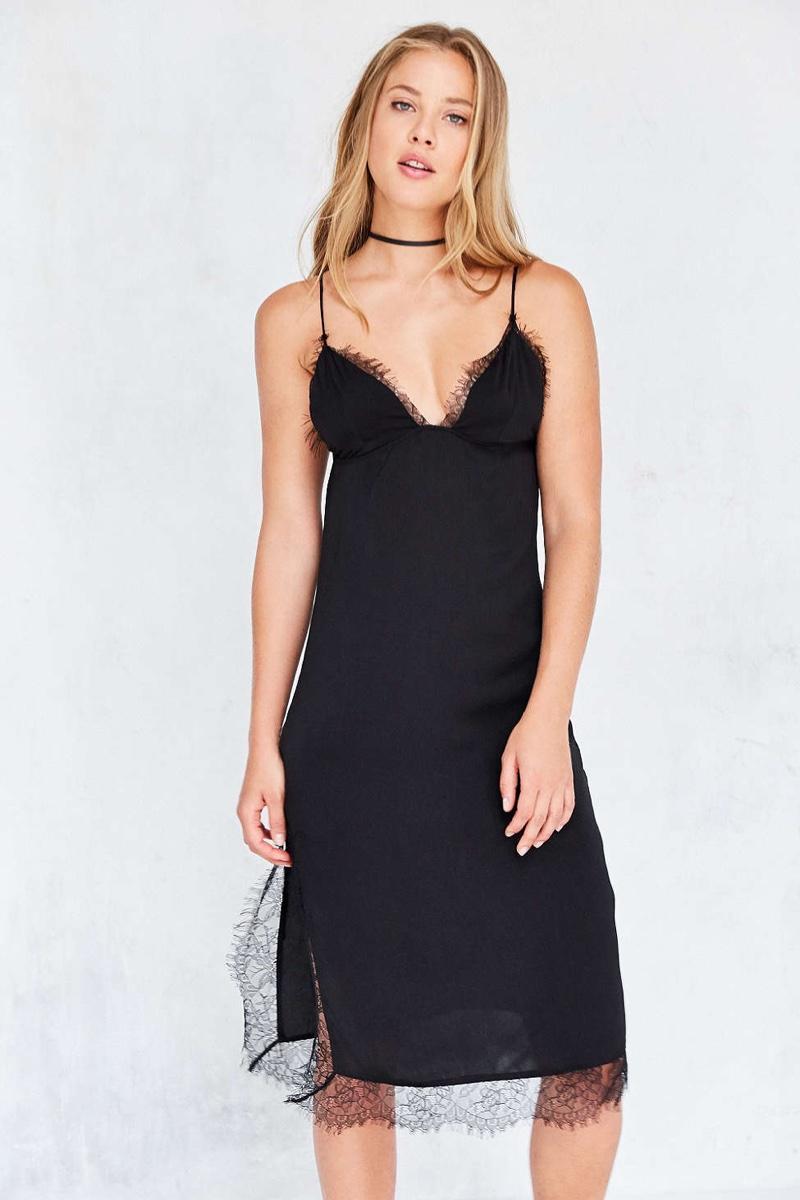 Capulet Parlour Lace Trim Midi Slip Dress