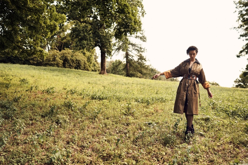 Rebecca Hall hits the grass in army green outfit