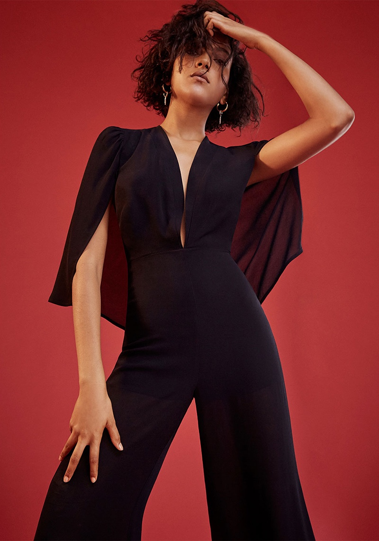 Reformation Rosana Jumpsuit in Black