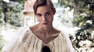 Natalia Daragan Poses in Dreamy Dresses for Vogue Russia Editorial