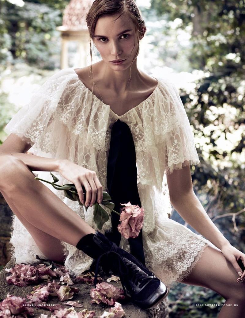 Natalia Daragan Poses in Dreamy Dresses for Vogue Russia Editorial