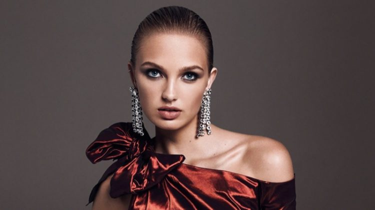 Romee Strijd Poses in the Best Party Ready Looks for The Edit