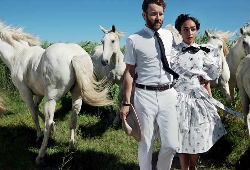Joel Edgerton and Ruth Negga star in Vogue Magazine. Photo: Vogue/Mario Testino