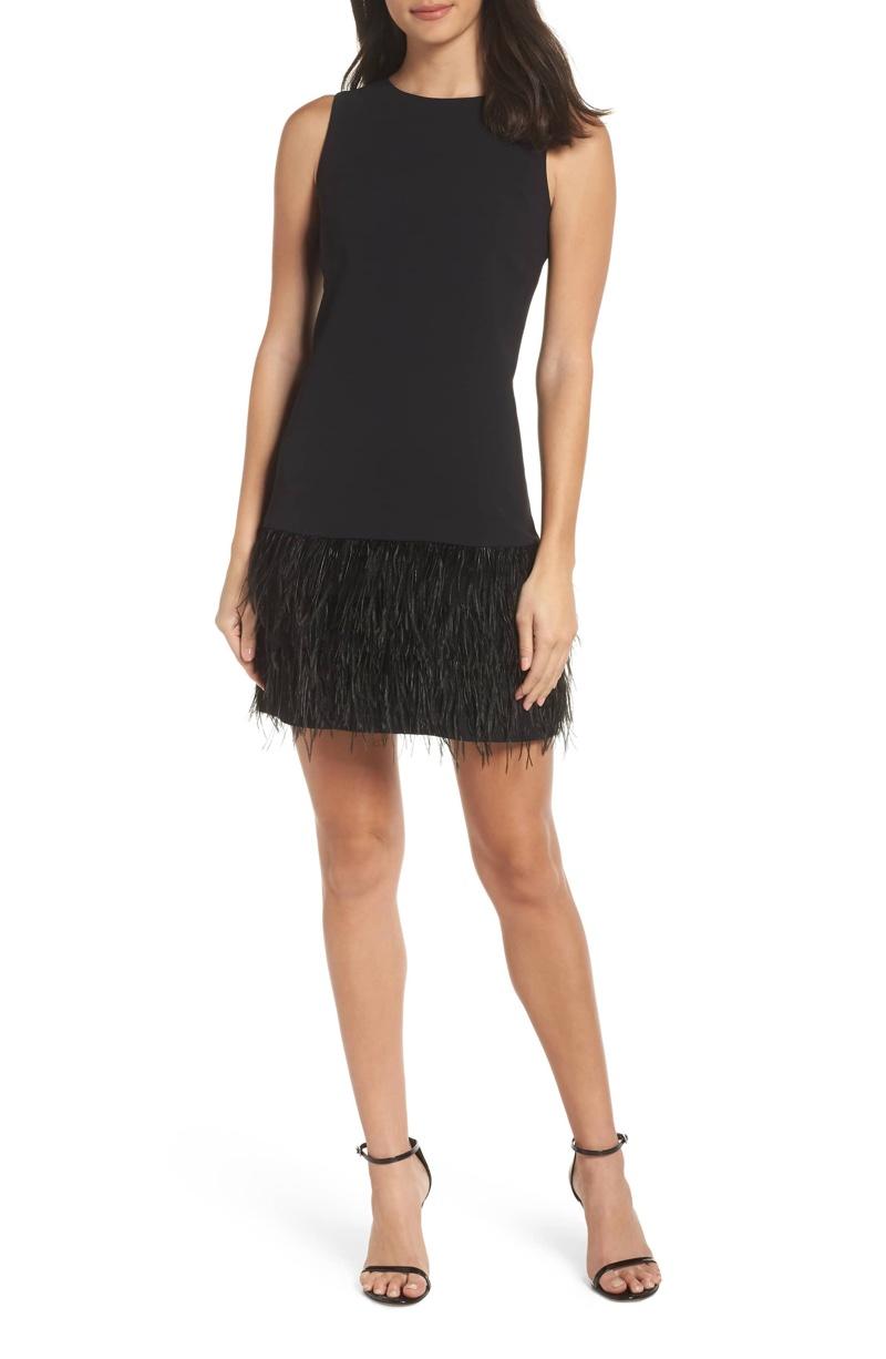 Sam Edelman Feather Hem Sheath Dress $158