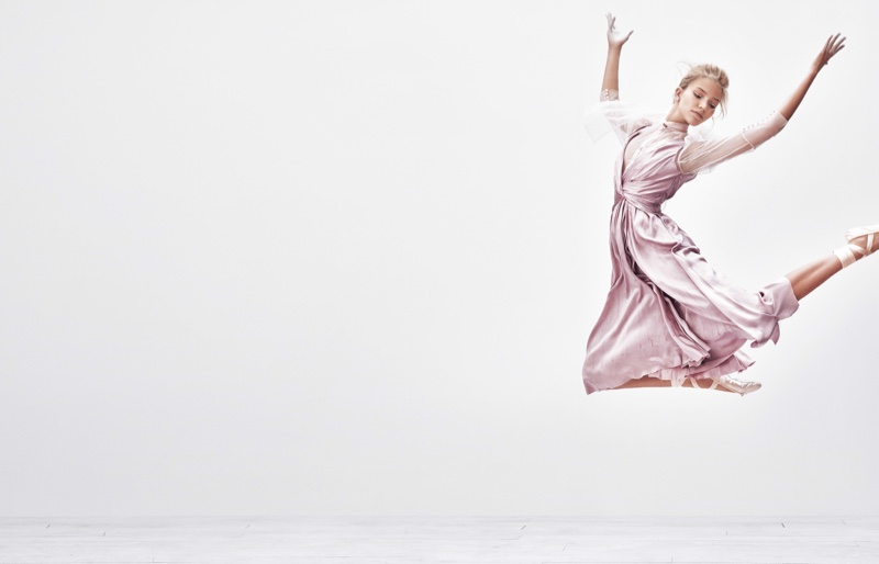 Sasha Luss stars in Vogue Japan's December issue