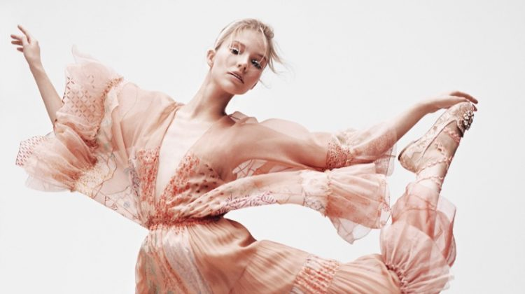 Sasha Luss Shows Off Her Best Moves for Vogue Japan Editorial