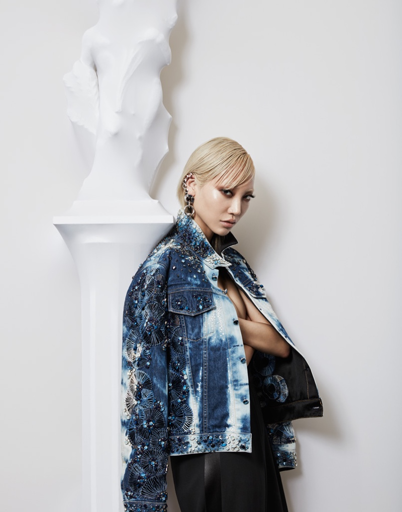 Photographed by Jason Kim, Soo Joo Park wears looks from Jean Paul Gaultier