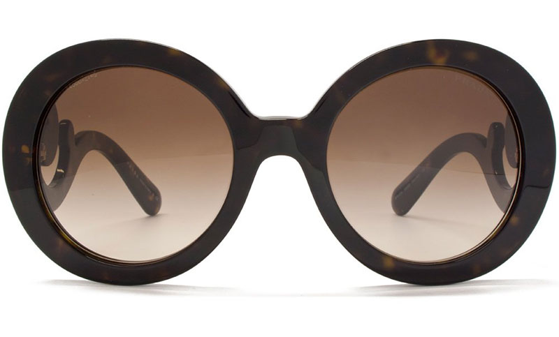 Oversized Havana Sunglasses from Prada, perfect for smaller and larger faces – available here