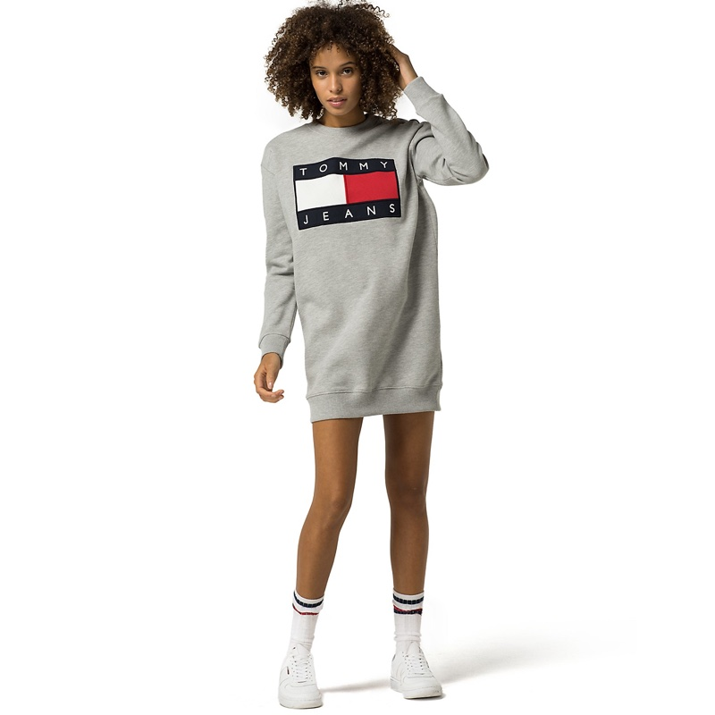 Tommy Jeans Flag Sweatshirt Tunic