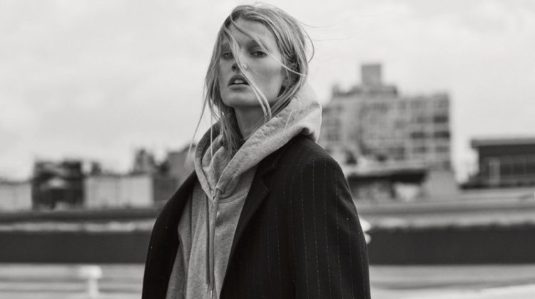 Toni Garrn Poses in Menswear Inspired Looks for GQ Germany