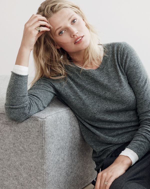 J. Crew Italian Cashmere Long-Sleeve T-Shirt, Vintage Cotton Long-Sleeve T-Shirt and Party PJ Pant