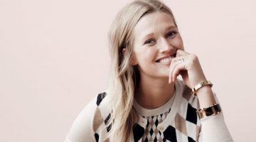 Toni Garrn Poses in J. Crew's Cozy Fall Styles