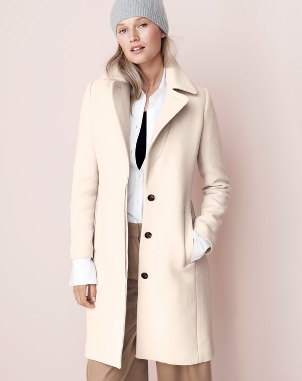 J. Crew Double-Cloth Belted Trench Coat