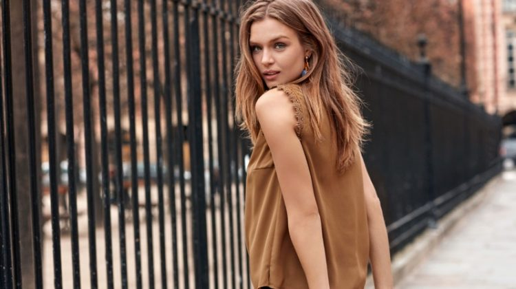 Josephine Skriver Looks Stylish in Paris for Vero Moda's Fall 2016 Campaign