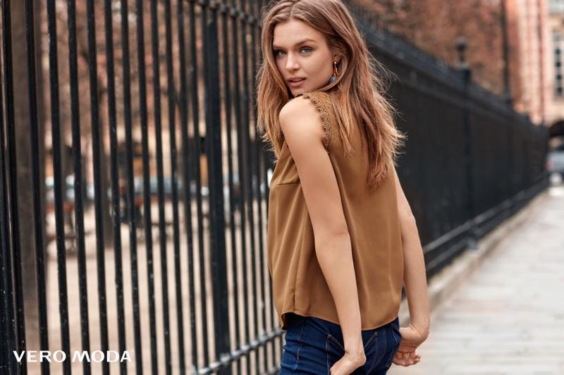 Josephine Skriver Looks Stylish in Paris for Vero Moda's Fall 2016 Campaign