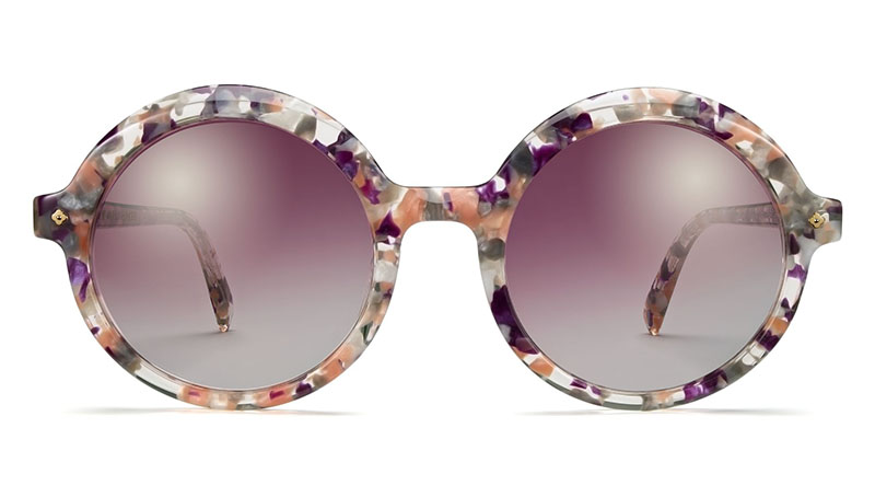 Warby Parker x Leith Clark Constance Sunglasses in Blossom Crystal $145