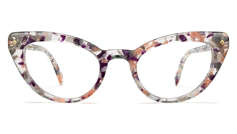 Warby Parker x Leith Clark Evelina Glasses in Blossom Crystal $145