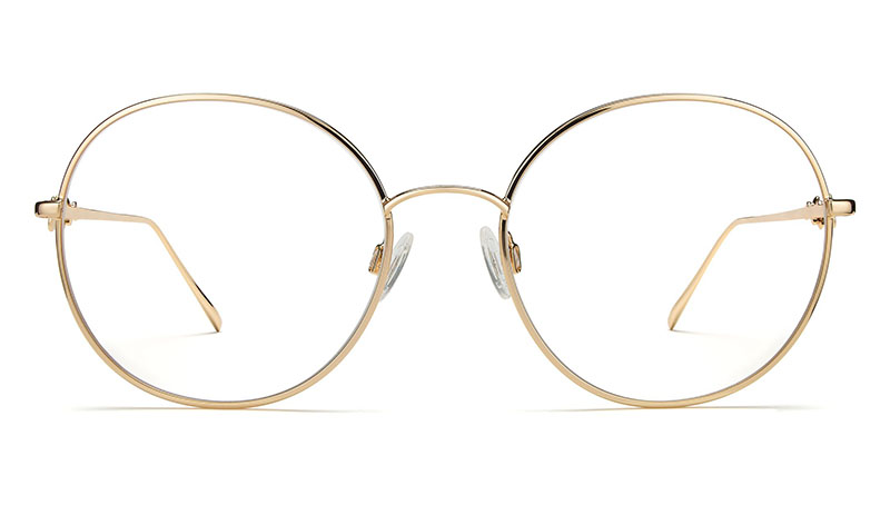 Warby Parker x Leith Clark Little Wilding Glasses in Polished Gold $145