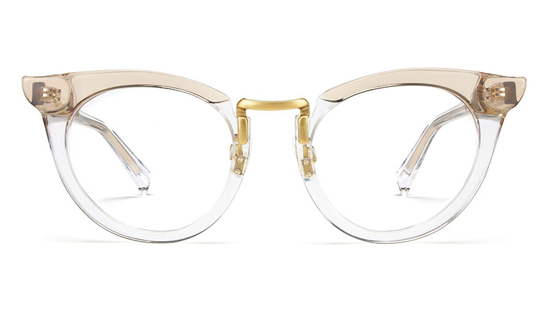 Warby Parker x Leith Clark Zelda Glasses in Crystal Taupe $145