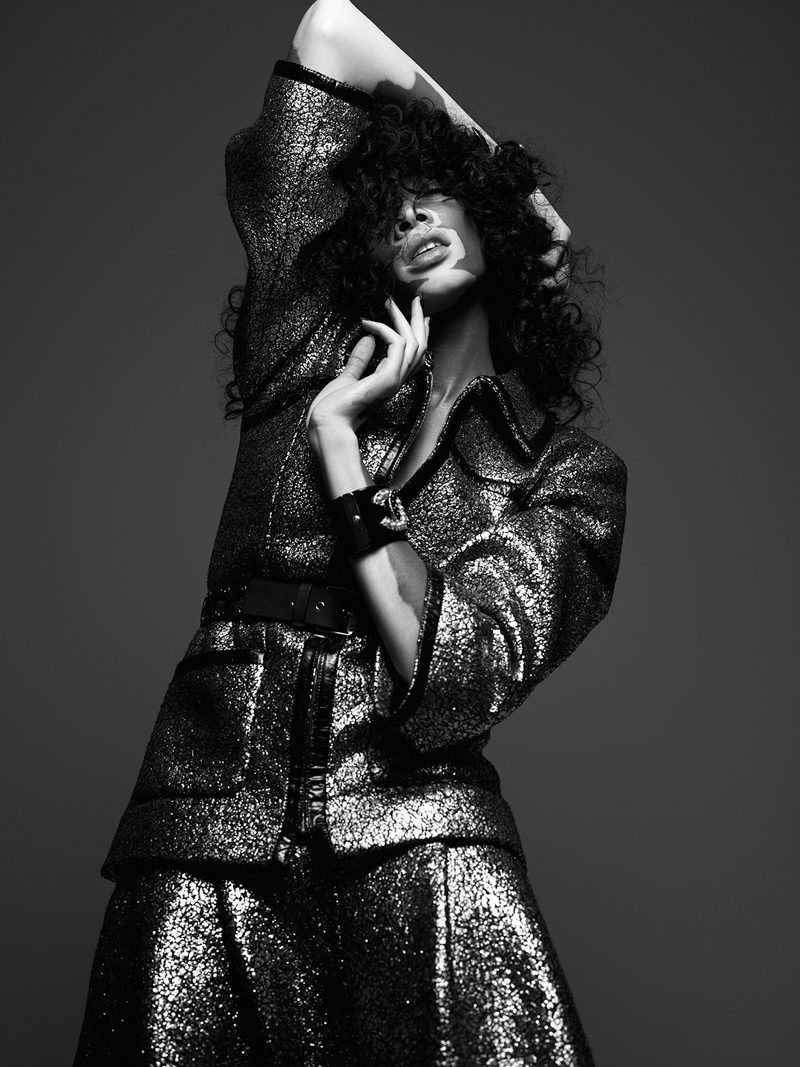 Winnie Harlow Poses In Chanel For Hunger Magazine