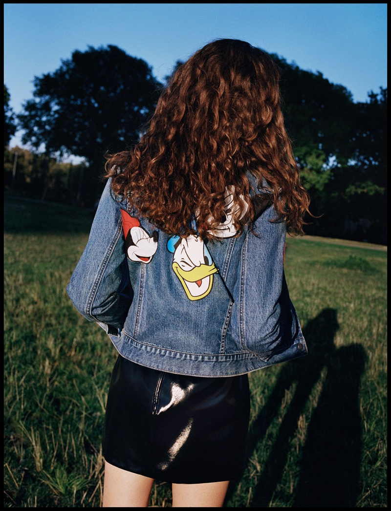 Zara Patched Denim Jacket and Mini Patent Finish Skirt