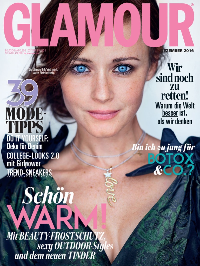 Alexis Bledel Glamour Germany December 2016 Photoshoot Fashion