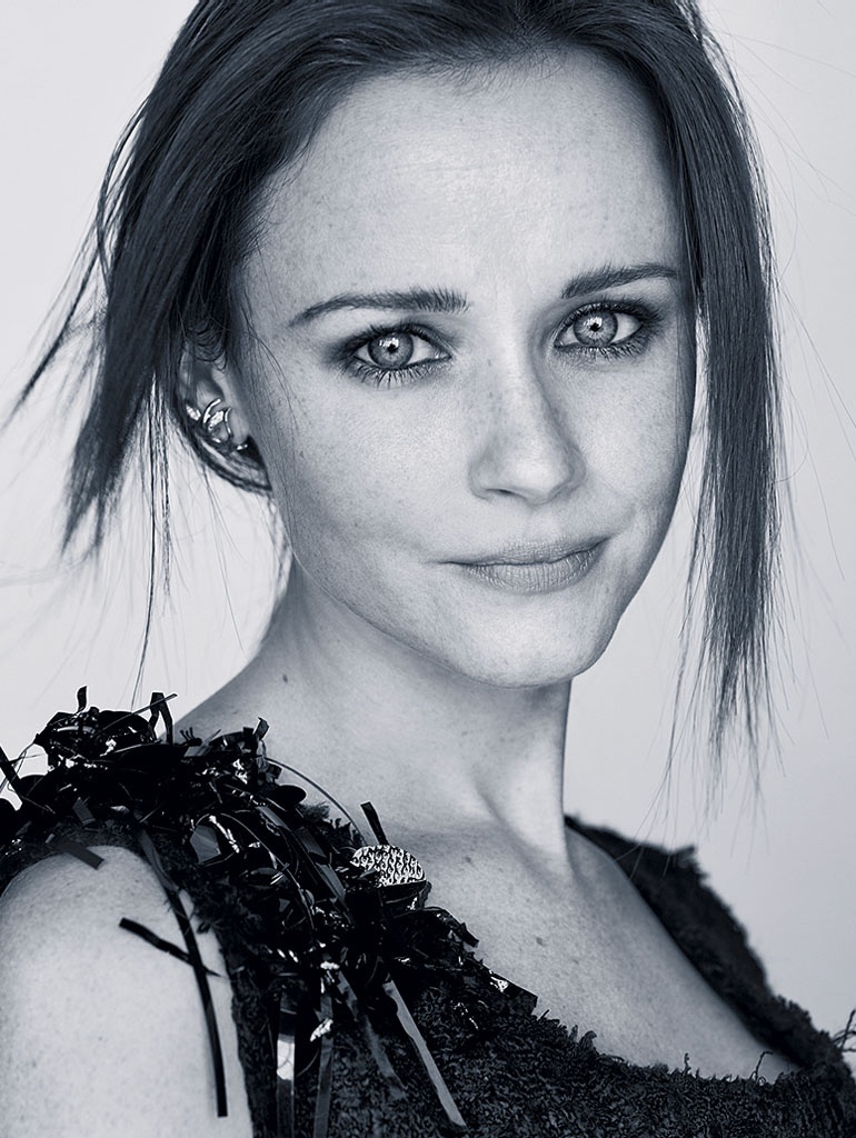 Alexis Bledel gets her closeup in embellished top