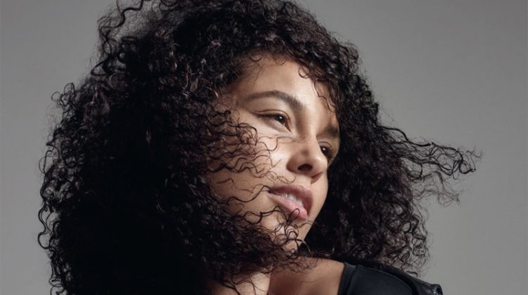 Alicia Keys Goes Makeup Free for ELLE UK Cover Shoot