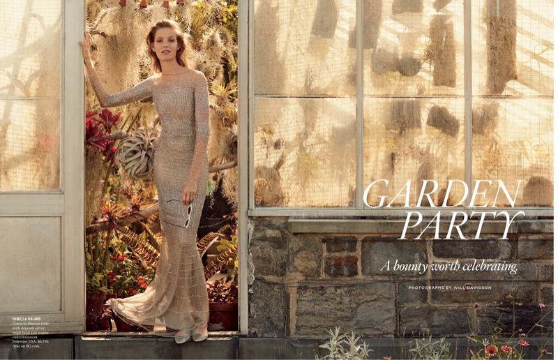 Alisa Ahmann Stuns in Garden Party Dresses for Bergdorf Goodman | Fashion Gone Rogue