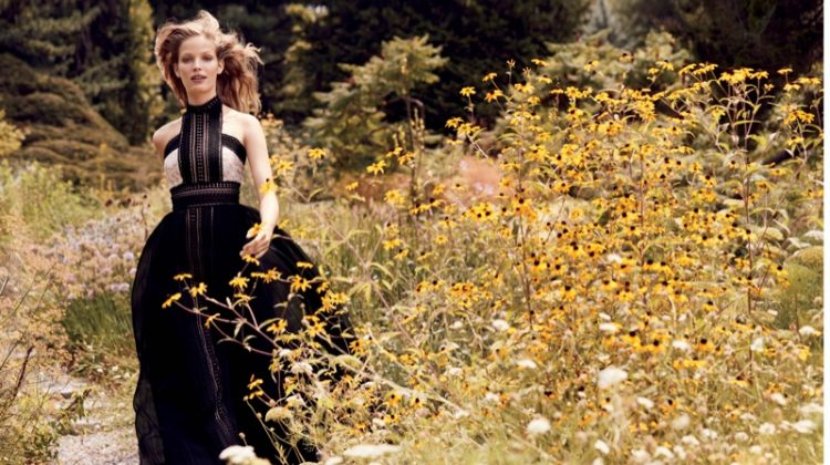 Alisa Ahmann Stuns in Garden Party Dresses for Bergdorf Goodman