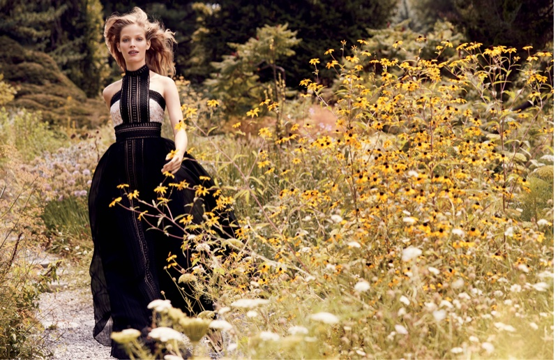 Alisa Ahmann Stuns in Garden Party Dresses for Bergdorf Goodman