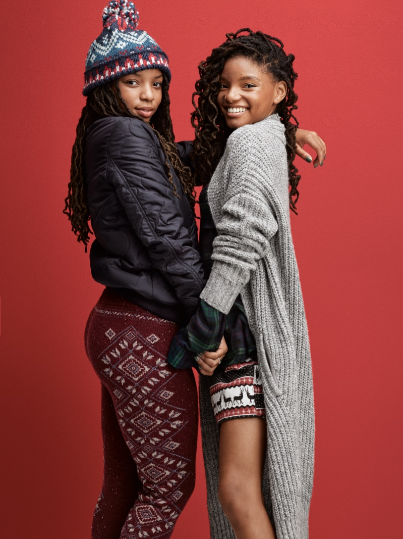 Chloe and Halle Bailey star in American Eagle Outfitters' Holiday 2016 campaign