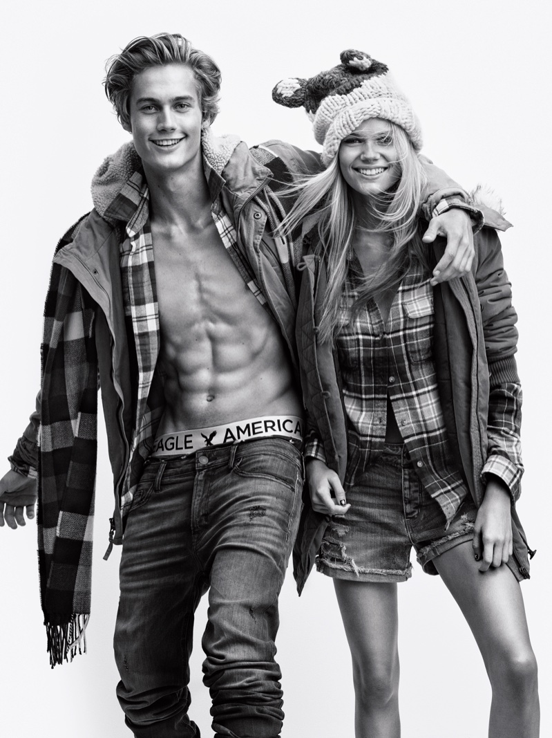 Brother and sister Kendall & Neel Visser star in American Eagle Outfitters' Holiday 2016 campaign