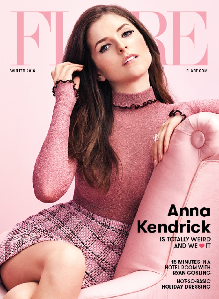 Anna Kendrick on FLARE Magazine Winter 2016 Cover