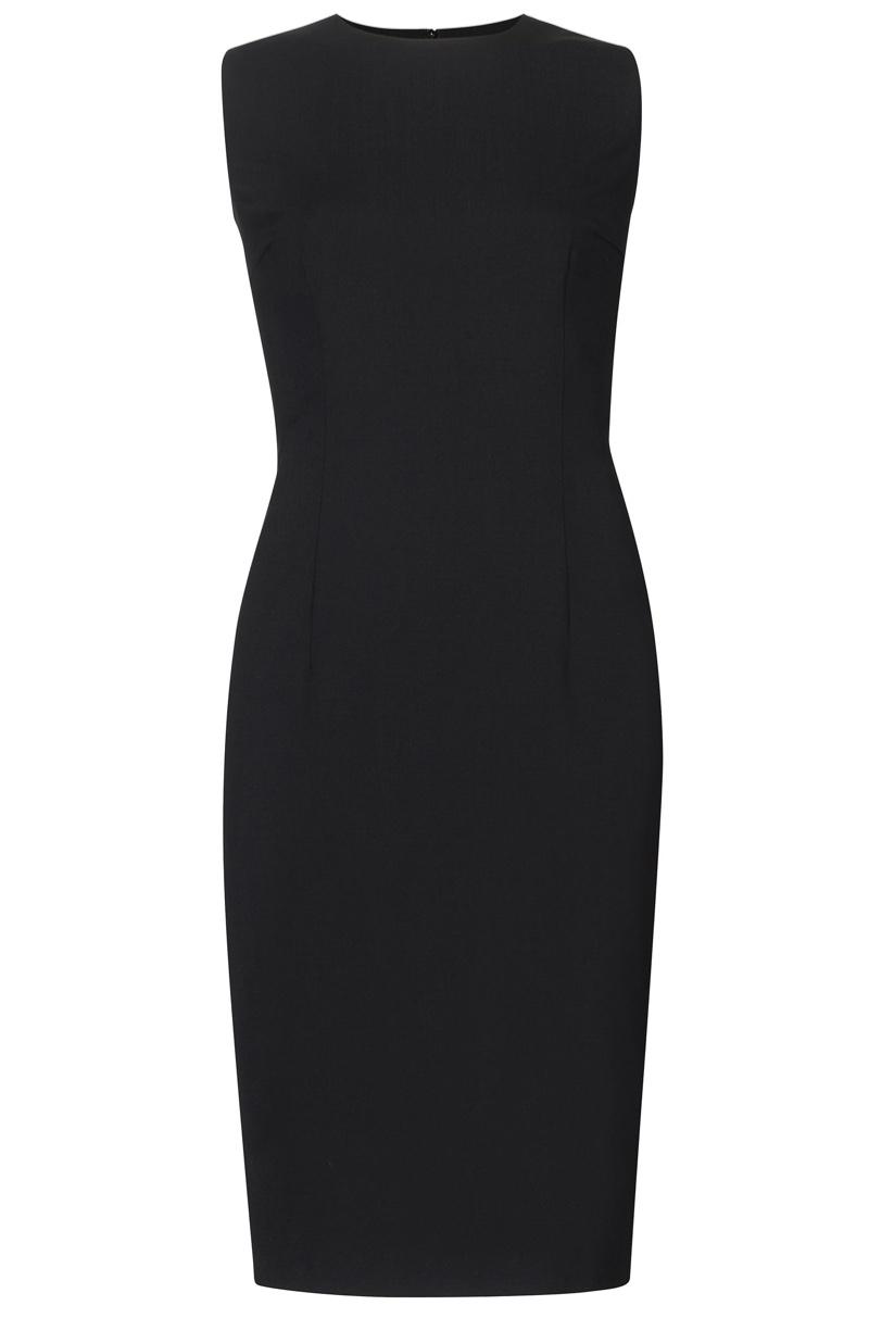 BOSS Dirusa Stretch Virgin Wool Shift Dress