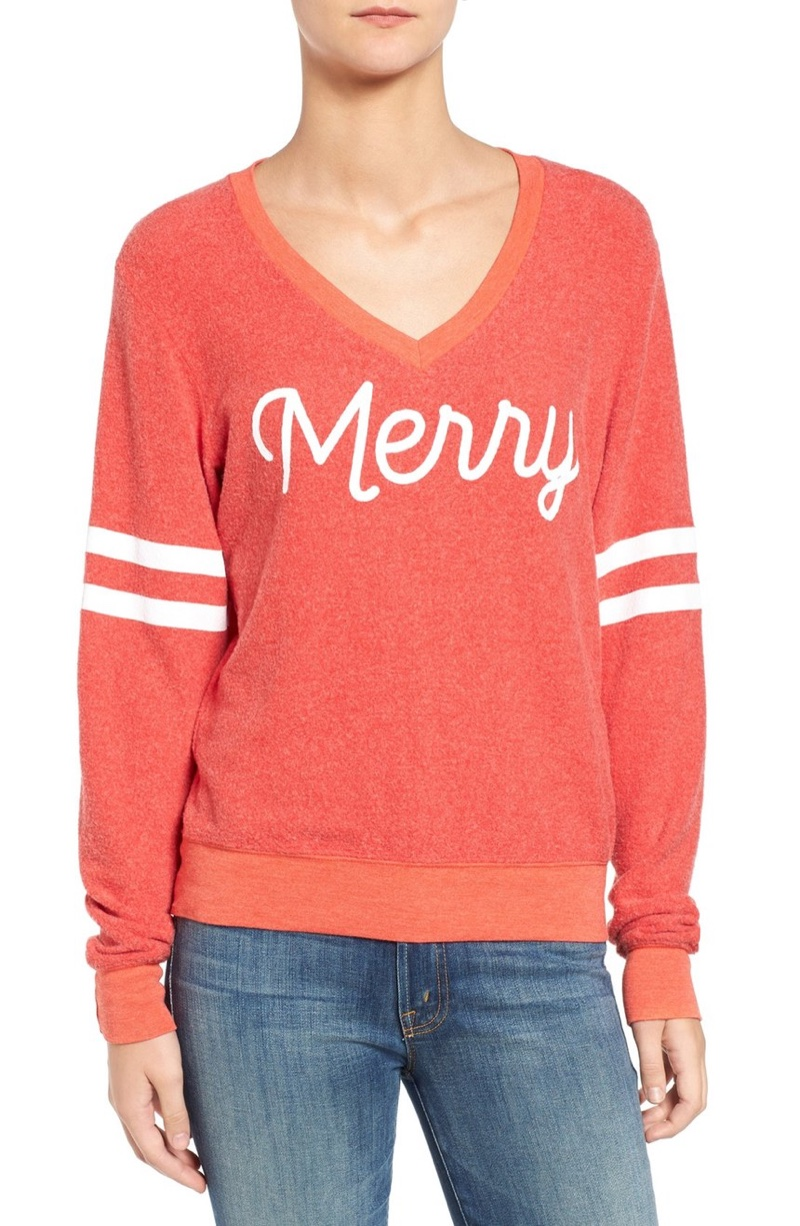 Wildfox Baggy Beach Merry Pullover Sweater