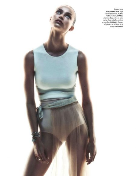Birgit Kos is Ready to Dance in ELLE France Editorial