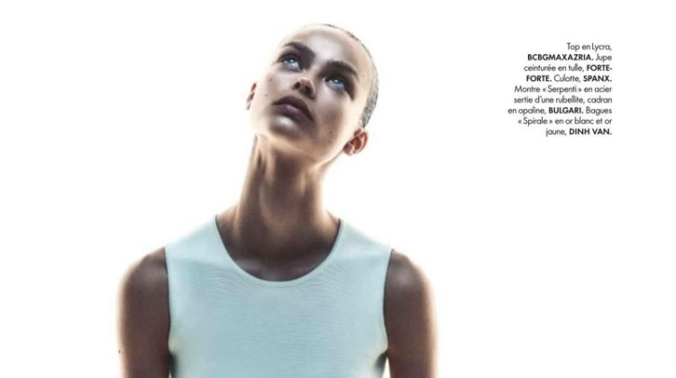 Birgit Kos is Ready to Dance in ELLE France Editorial