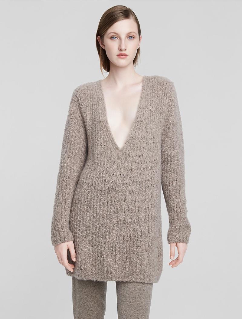Calvin Klein Cashmere Bouclé Rib Sweater