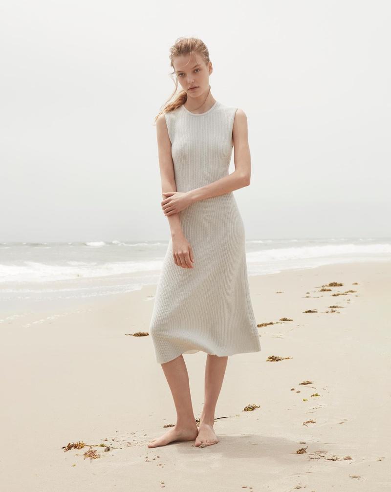 Calvin Klein Collection features sleeveless cashmere dress