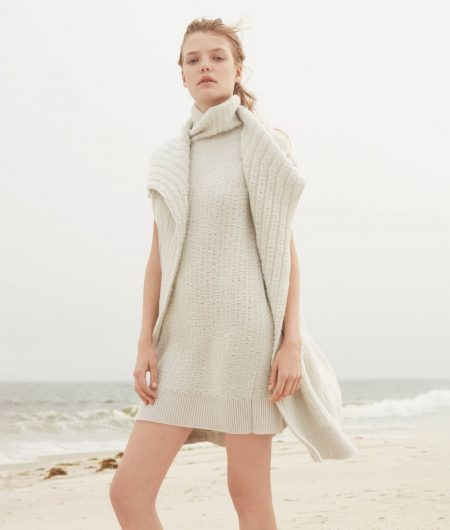 Roos Abels Heads to the Beach in Calvin Klein's Cashmere Collection