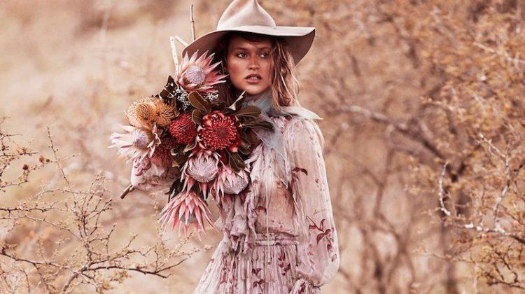 Chloe Lecareux Models Dreamy Outdoor Styles for Grazia Australia