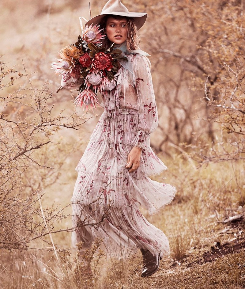 Chloe Lecareux Models Dreamy Outdoor Styles for Grazia Australia