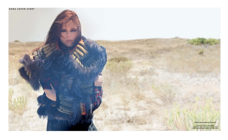 Coco Rocha Wears the Season's Statement Jackets for Ladies & Gents Magazine