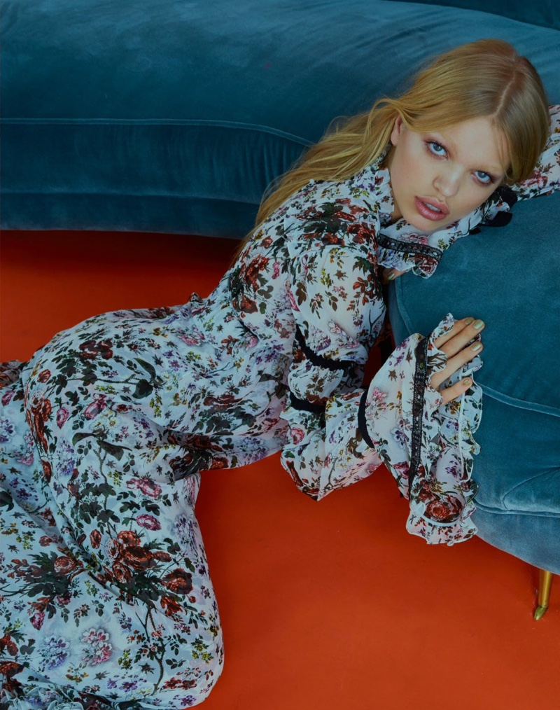 Daphne Groeneveld wears gowns from the resort collections